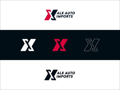 ALX Auto Imports Proposed Logo illustration logo identity branding logo design