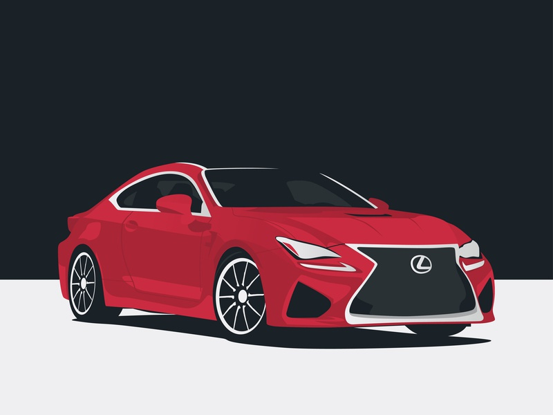 2019 Lexus RC F vector art minimalist luxury car lexus illustration flat design car illustration car club automotive design