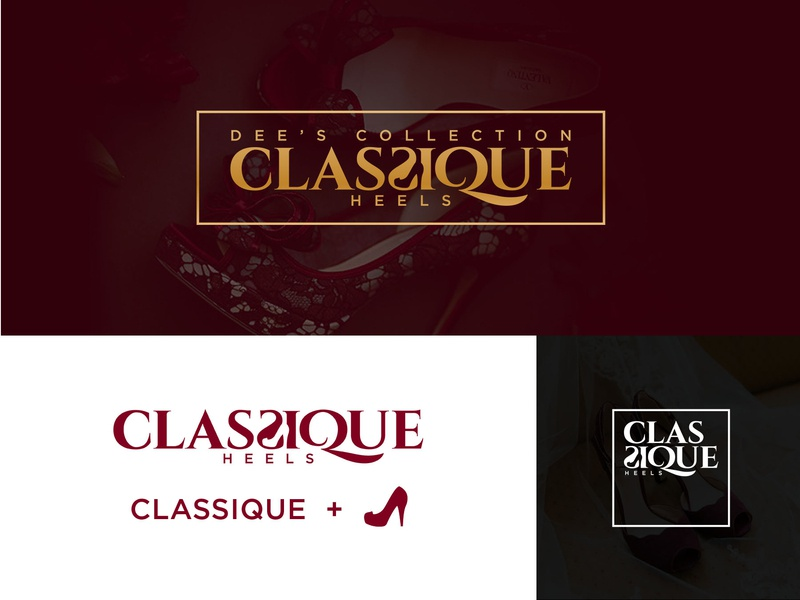 Classique Heels Logo Design wordmark logo typogaphy luxury branding illustration logo branding identity logo design logotype
