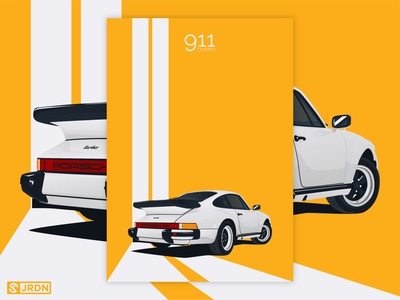 1978 Porsche 911 Turbo car club automotive digital art vector art vector minimalist porscheart