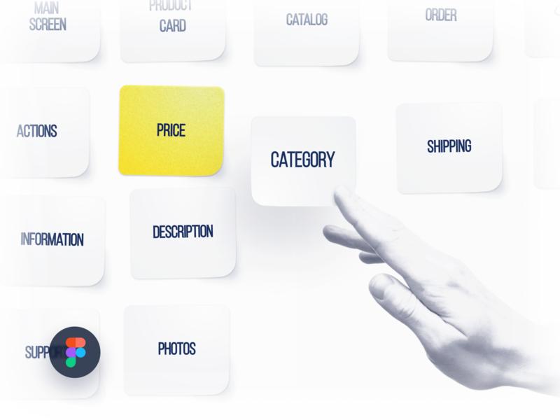 Card Sorting UX Figma Freebie research card style light figma illustration ia survey card sorting ui creative design ux design