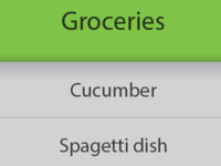 Shopping list mockup