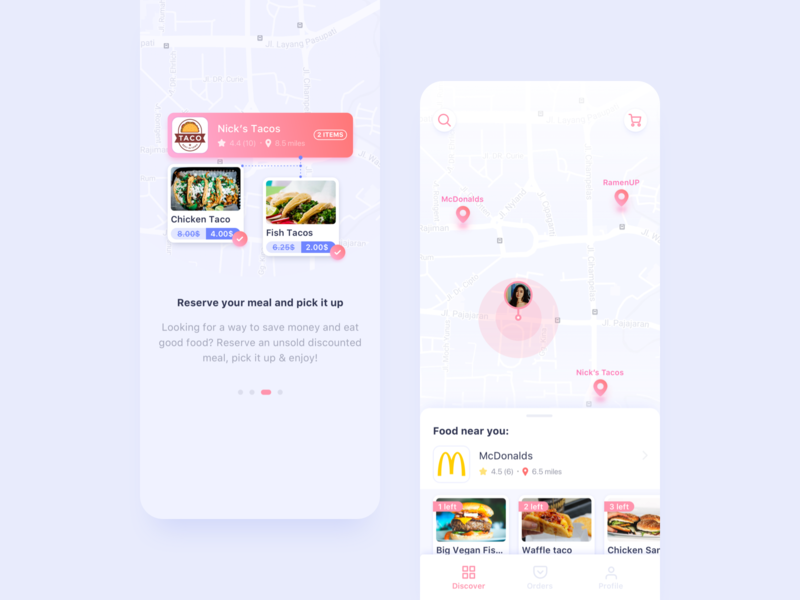 LatePlate App Conecpt food and drink food app food gradient clean app concept business ux app design concept bright color ui design