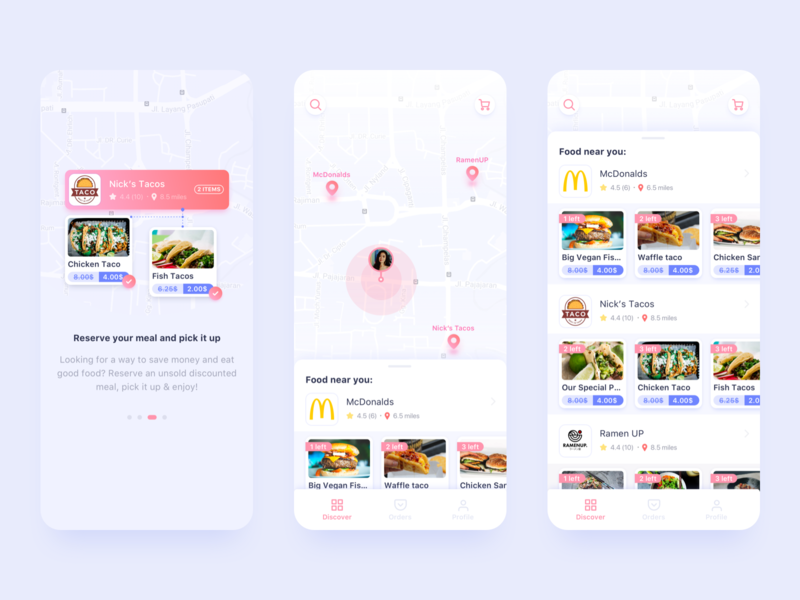 LatePlate App Concept food and drink food app business clean app concept design concept ux app bright color ui design