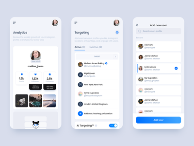 Flock Social - Mobile App 2 illustration typography ux socialmedia app design gradient clean app business design