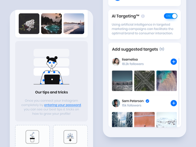 Flock Social - Mobile App 3 vector app design illustration clean ux app business ui design