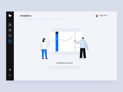 Flock Social - Analytics dashboard social media icon branding vector app design illustration clean business ui design