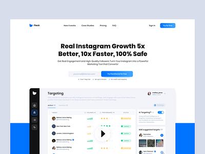Flock Social Website social network social typography branding illustration business ui website design design