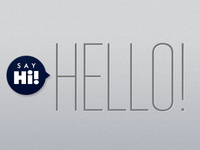 Hi, Hello!