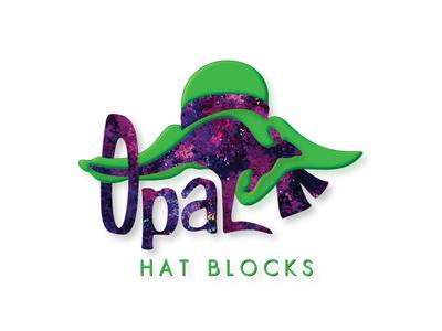 Opal Hat Blocks Logo Design graphic design logo brand