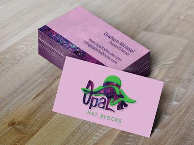Opal Hat Blocks Business Card Design business card brand graphic design