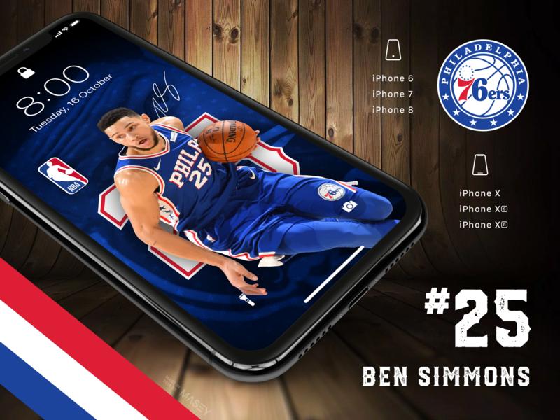 Ben Simmons Mobile Wallpapers fan art nba basketball sport wallpaper iphone design