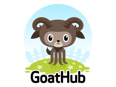 GoatHub goat mascot character fun logo github