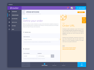 Order creation