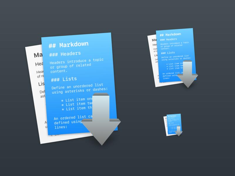 Markdown macOS App Icon markdown icon macos