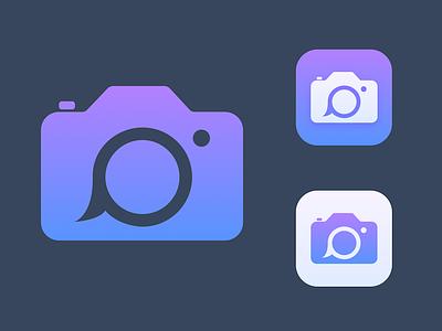 Icon Spitballing icon caption camera