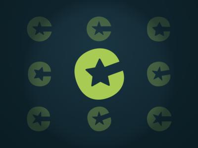Unused C Mark star letter logo