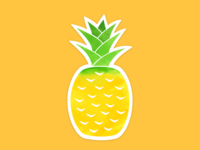 Pineapple Summer Sticker