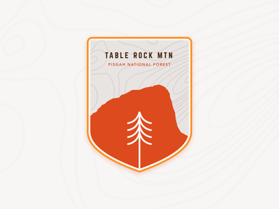 Table Rock Mtn. Patch north carolina table rock badge patch mountain