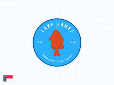 Lake James Patch north carolina lake james fish lake patch badge