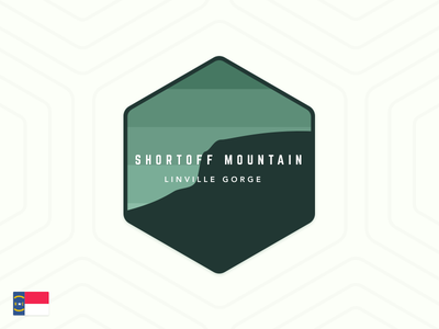 Shortoff Mountain linville gorge north carolina mountain shortoff patch badge