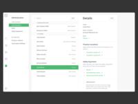 Web app layout