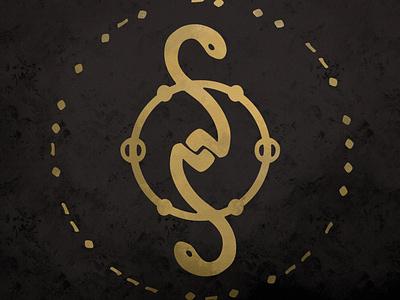 Nightgrowler Seal logo design 2020 twin snakes serpent snake sigil logo seal