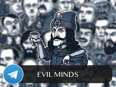 Evil Minds Telegram Sticker Pack villain tepes stickers telegram evil