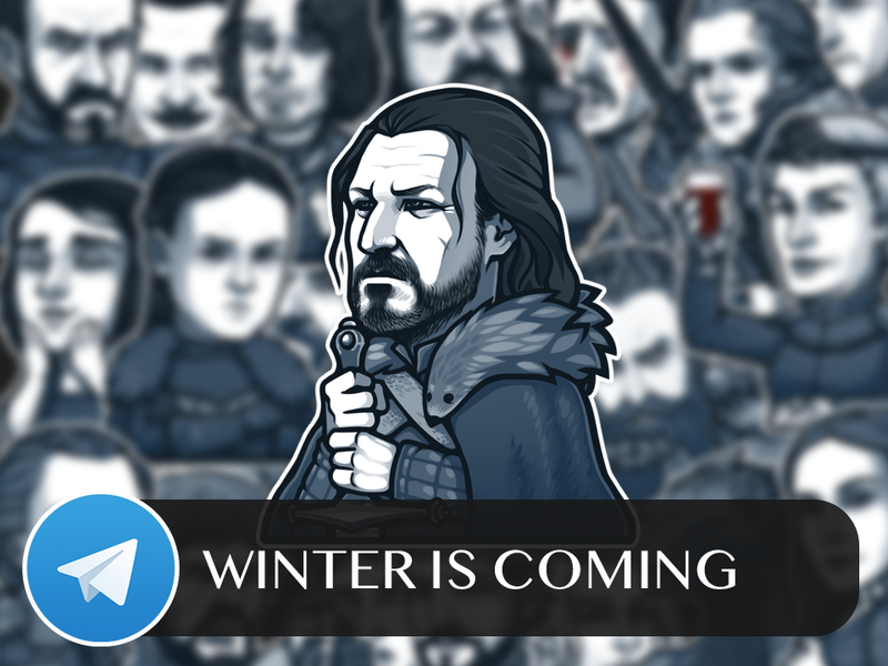 Winter Is Coming Telegram Sticker Pack by Nightgrowler on