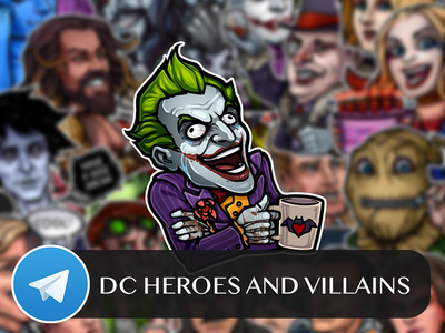 DC Heroes and Villains Telegram Sticker Pack