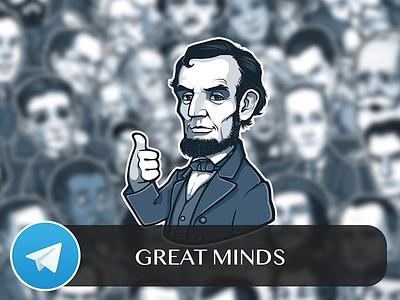 Great Minds Telegram Sticker Pack stickers sticker pack great minds telegram