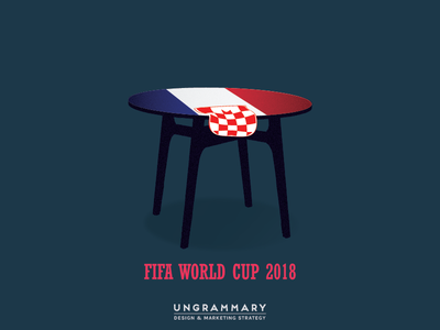Croatia Slipping to France world cup fifa concept art illustration