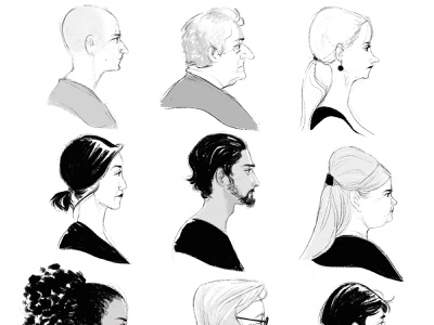 Faces characters illustration digital art character sketch