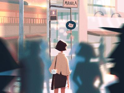Memory Lane (Day Version) visual development visdev character design dessin illustration lights concept art environment