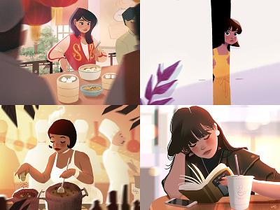 Top 4 Shots from 2018 top4shots lights visual development character design characters illustration concept art environment