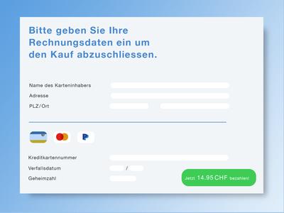 DailyUI #002 – Credit Card Checkout