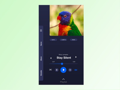 DailyUI #009 – Music Player