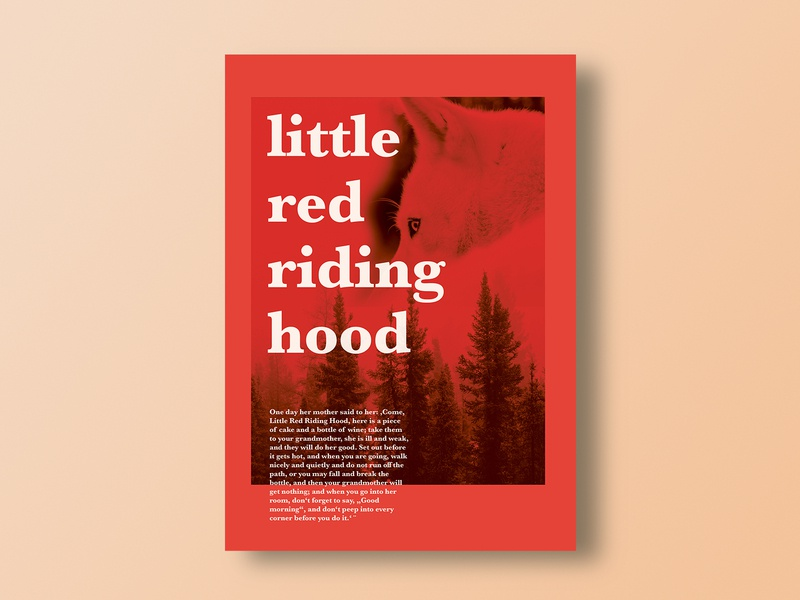 little red riding hood wolf red little red riding hood fairy tale story tale posterdesign poster graphicdesign