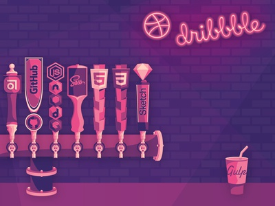 What'll it be? Pick your poison. debut alcohol bar css html javascript node debut shot hello dribbble hello gulp sketch app css 3 html 5 sass nodejs github abstract vector artwork illustration