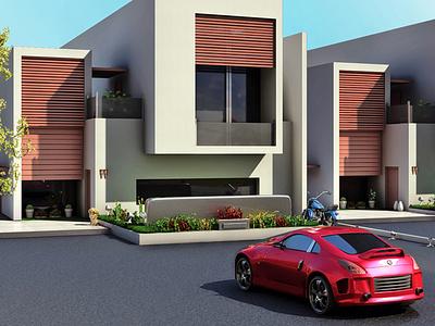 Exterior 3d Render visualization architechture exterior design rendering 3dsmax 3d design