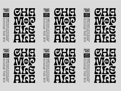 Champale Ale label 2 typography psychedelic pale ale munnenhembryggeri munnen label design label eckmann psych craft beer champaleale champagne belgian pale ale beer label beer art beer animation animated typography animated type