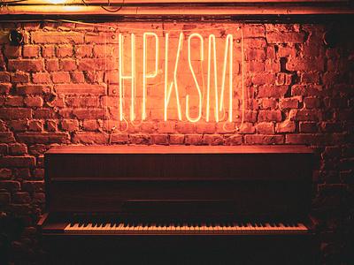 Studio HPKSM logo restaruant bar neon sign neon branding identity logotype
