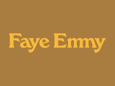 Faye Emmy 2 70s logotype identity logo typography branding vector design bespoke typeface typeface design custom type custom typeface ligature faye emmy restaurant restaurant branding