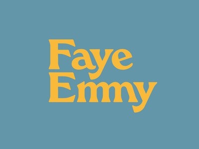 Faye Emmy 1 70s logotype identity logo typography branding vector design bespoke typeface typeface design custom type custom typeface ligature faye emmy restaurant restaurant branding