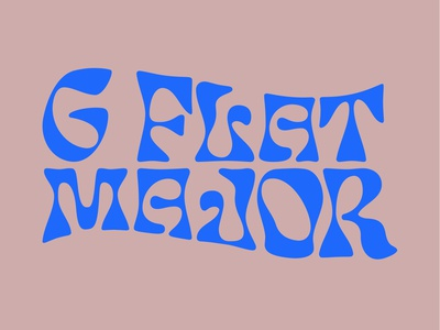 G Flat Major - Logotype warped type wave gallery music art vibrant colors psychedelia psych hippietype 70stype 70s psychedelictype hippie branding psychedelic typography logo illustration identity logotype