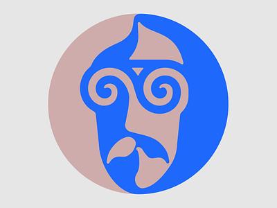 G Flat Major - Symbol yin yang mustache gallery music art hypnotize hypnosis portrait vibrant colors psychedelia psych 70s hippie branding psychedelic typography logo illustration identity logotype