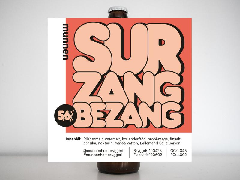 Sur Zang Bezang label frankfurter std frankfurter munnenhembryggeri typography craft beer packaging beer label beer