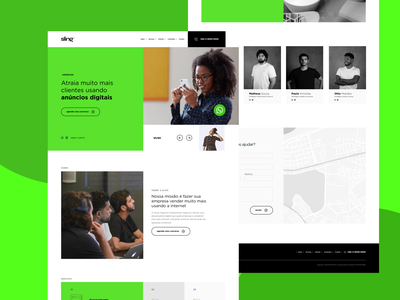 Sling.Digital landingpage minimal website web ui design