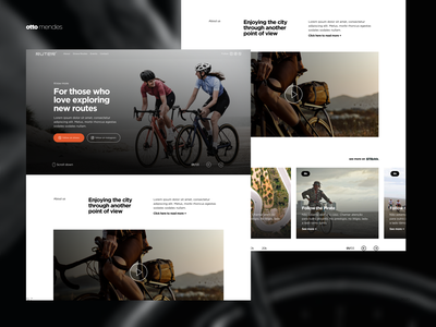 Ruter events ux concept art design website web ui landingpage