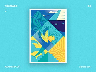 Postcard #2 | Miami Beach postcard art deco miami beach summer time florida style poster retro vintage
